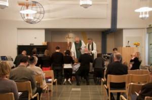 Ehtoollinen Filippuksen seurakunnassa Kajaanissa