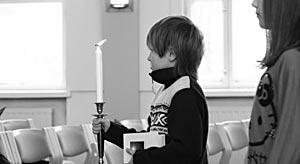 Kynttilän johdolla pyhäkouluun Johanneksen seurakunnassa Tampereella