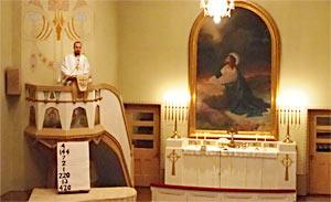 Sebastian Grünbaum predikar i St. Gabriels församling, Åbo